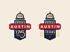 Austin 175th Anniversary Logo by Steve Wolf