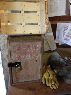 Honesty box in the garden shop at Michael Hall School.