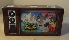 Men's Batman Boxers TV Tin Bank Size Sm Black New #SleepBoxers