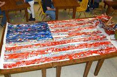 Expedition: Art: Jasper Johns-Inspired American Flag