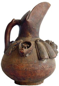 Africa |  Ceremonial Jug, Bamileke, Cameroon Grasslands | © Ann Porteus, Sidewalk Tribal Gallery, via Flickr
