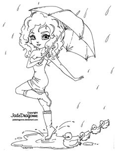 Umbrella - lineart by *JadeDragonne on deviantART