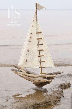 Купить кораблик - бежевый, корабль, корабли, кораблик, кораблики, парусник, парусники, море, морская тема
