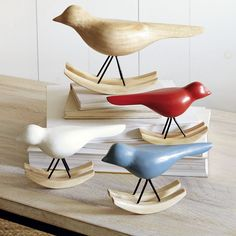 Rocking mid-century inspired birds from West Elm