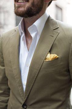 1 Piece/3 Ways: Leather Espadrilles | TSBmen White Dress Shirt, open collar
