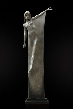 "'Seraphina' Limited edition bronze sculpture Height – circa 32"" (92cm) by Michael Talbot"