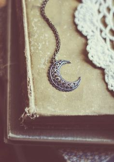 bohemian moon necklace.