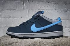 "Nike SB Dunk Low ""Squadron Blue"" #sneaker #nike #dunklow #blue"