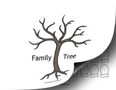 Make a personalized family tree with this customizable template. Cut out the leaves or picture frames for each family member and tape or glue them to the tree before writing in names. Free to download and print