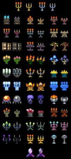 Terraria- Candlelabras & Terraria- Doors | Terraria | Pinterest | Terraria Retro video games ...