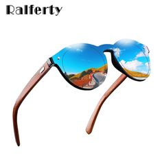 d60052129 Ralferty Retro Wood Sunglasses Women Men 2018 Bamboo Blue Mirror Sun  Glasses UV400 Sport Eyewear Dropshipping · Óculos De Sol ...