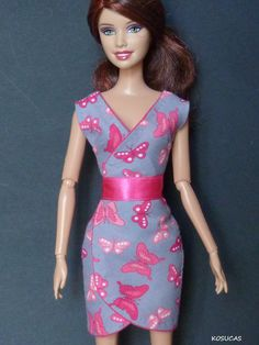 Dress for Barbie and Poppy Parker dolls. por Kosucas en Etsy