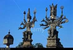 Multi-Armed Shiva and Multi-Headed Ganesh, the elephant god, at the Sala Kaew Ku Sculpture Park, Nong Khai, Thailand