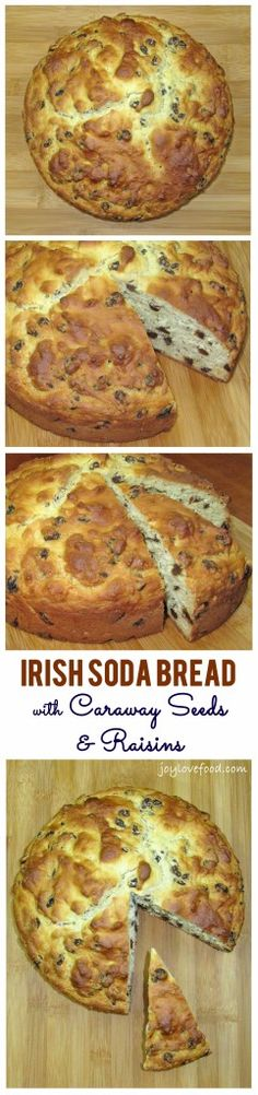 Irish Soda Bread with Caraway Seeds and Raisins - Joy Love Food Perfect for St Patrick's Day!