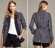 Brave the rain in style with this gingham trench.