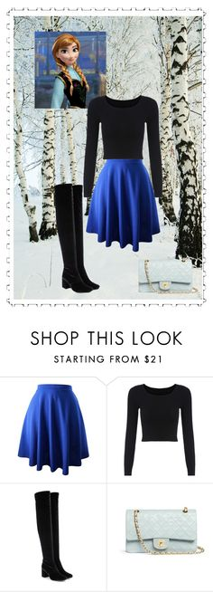 """Anna"" by dear-x-you-dont-own-me ❤ liked on Polyvore featuring Disney, Yves Saint Laurent and Chanel"