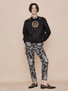 김원중 화보, 그래픽 패턴 스타일의 옷 | GQ KOREA (지큐 코리아) 남성 패션 잡지