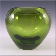 Holmegaard Per Lutken Blue Glass 'Majgrøn' Vase - Signed #1 - £40.00