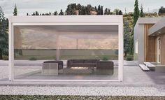 Venkovní pergola Erhardt Qube Dokonalý architektonický prvek s možností regulace naklápěcích lamel