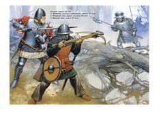 Angus McBride - Guerreros suecos, siglo XV