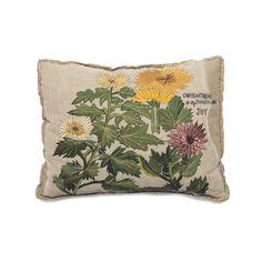 Bokja Embroidered Chrysanthemum Cushion