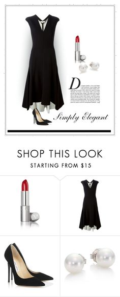 """Simply Elegant"" by patricia-dimmick on Polyvore featuring STELLA McCARTNEY, Jimmy Choo, Anja, Mikimoto and Minimaliststyle"