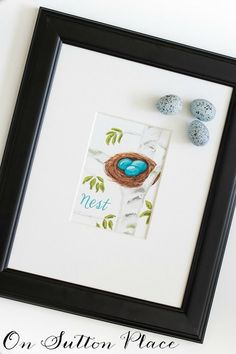 Free Watercolor Nest Printable | Use for DIY wall art, cards, crafts and more!