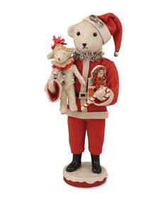 Santa Teddy Bear | Vickie Smyers - $49.95 at The Holiday Barn