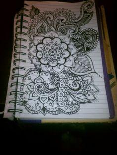 Black sharpie doodle