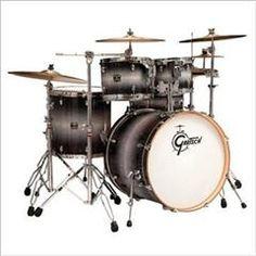 HelloMusic: Gretsch Drums Gretsch BR-E8256 Catalina Birch Five-Piece Euro Drum Kit - Ebony Diamond Halogen Burst