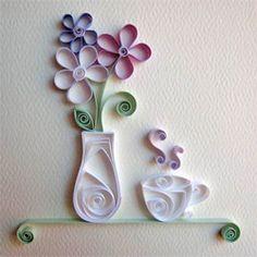 Quill Tutorial:Tea Cup/Vase Flowers