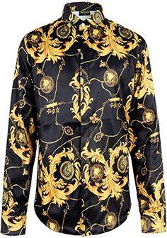 fd397ddcb62bc Pizoff Mens Long Sleeve Luxury Design Print Dress Shirt