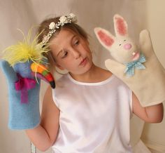 needle felted puppets by Laura Lee Burch