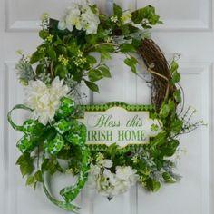 St Patrick Grapevine Wreath 2