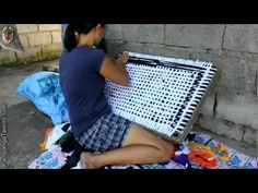 Door mats from the Philippines - YouTube