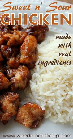 Sweet n' Sour Chicken - MADE WITH REAL FOOD!