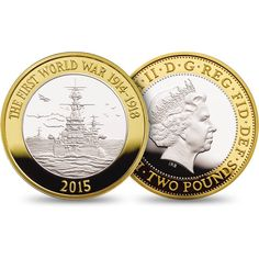 The Royal Mint's programme of commemoration marking the centenary of the First World War continues with a United Kingdom coin that honours the Royal Navy. Mint Coins, Silver Coins, English Coins, Bullion Coins, Proof Coins, World Coins, Rare Coins, Royal Navy, British History