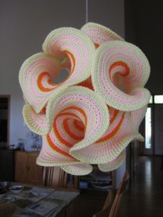 Hyperbolic Crochet Surfaces - for Tangle Knit Art, Crochet Art, Crochet Home, Love Crochet, Crochet Motif, Crochet Designs, Crochet Crafts, Crochet Flowers, Crochet Stitches