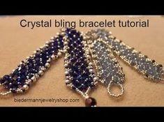 Swarovski rivoli focal bracelet tutorial - YouTube
