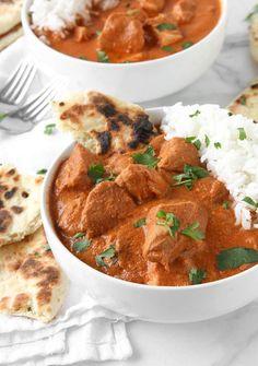 Healthy Slow Cooker Indian Butter Chicken | thekitchenpaper.com