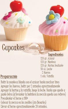 #cupcakes #receta #preparacion #dys Authentic Mexican Recipes, Köstliche Desserts, Delicious Desserts, Cupcake Recipes, Dessert Recipes, Coke Cake, Kids Cooking Recipes, Fondant Cakes, Cupcake Cookies