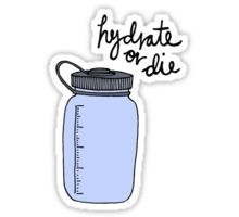 Hydrate or Die Sticker