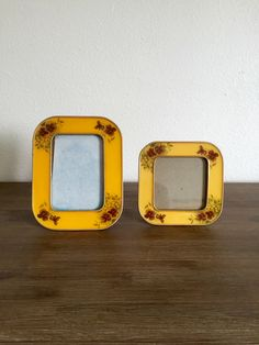 A personal favorite from my Etsy shop https://www.etsy.com/listing/480326143/yellow-enamel-metal-floral-picture