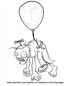 Plants vs. Zombies Coloring Page