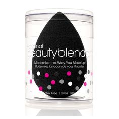 beautyblender Pro Single. The same beautyblender product in black. The universal color of professional makeup artists around the world. Stain proof and perfect for men, self tanners and bronzers. Don'