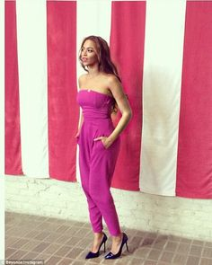 Summer style: Beyonce posted this snap of her in the same jumpsuit to her Instagram on Tue...