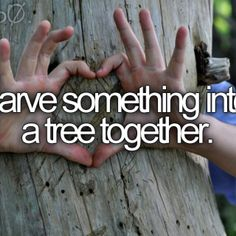 Carve something in the tree together