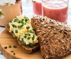 Vajíčková pomazánka z domácí lučiny Baked Potato, Mashed Potatoes, Salsa, Dips, Healthy Recipes, Bread, Baking, Ethnic Recipes, Food