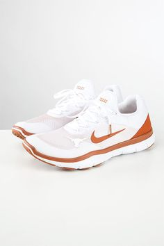 Take your workout up a notch while showing your Longhorn spirit with these  Limited Edition Texas Longhorn training shoes by Nike.