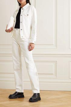 White Oversized denim jacket | Ksubi | NET-A-PORTER Oversized Denim Jacket, White Denim, Jacket Style, Who What Wear, Fashion Advice, Khaki Pants, Menswear, Normcore, Tank Tops